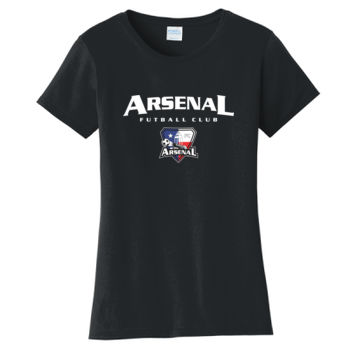 Arsenal Futball Club - White w/ Crest - Ladies Fan Favorite Tee Thumbnail