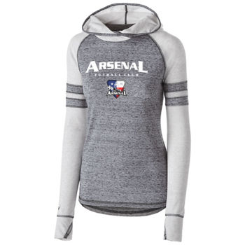 Arsenal Futball Club - White w/ Crest - Holloway Ladies Advocate Hoodie Thumbnail