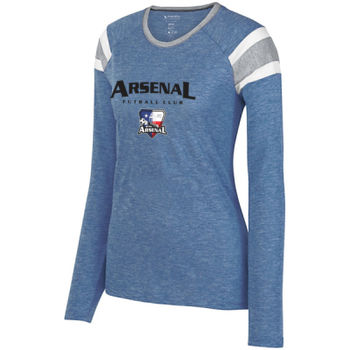 Arsenal Futball Club - Black w/ Crest - Ladies Long Sleeve Fanatic Tee  Thumbnail