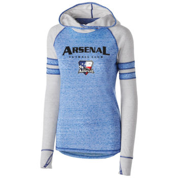 Arsenal Futball Club - Black w/ Crest - Holloway Ladies Advocate Hoodie  Thumbnail