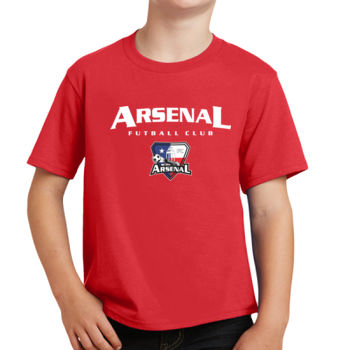 Arsenal Futball Club - White w/ Crest - Youth Fan Favorite Tee Thumbnail